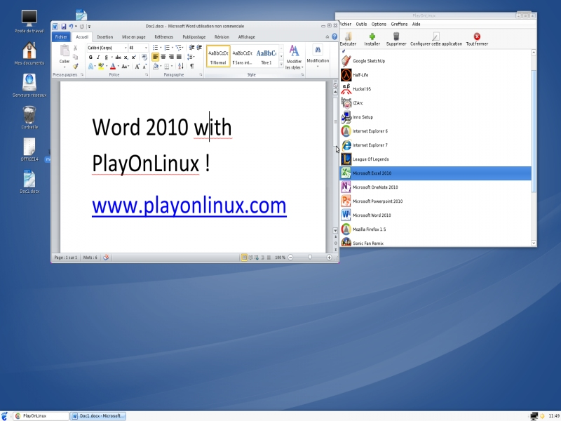 Microsoft Office 2010 - Supported software - PlayOnMac - Run